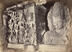 Elephanta - Arddhanarishwara and the Trimurti